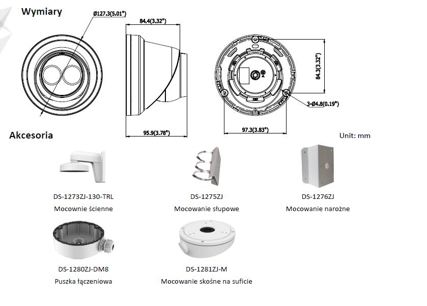 Kamera IP DS-2CD2323G0-I (2.8mm) HIKVISION