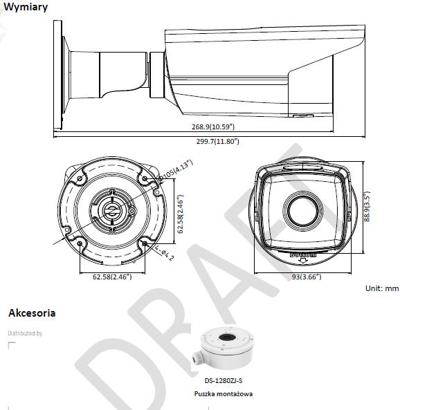 Kamera IP DS-2CD2T85FWD-I8 (4mm) HIKVISION