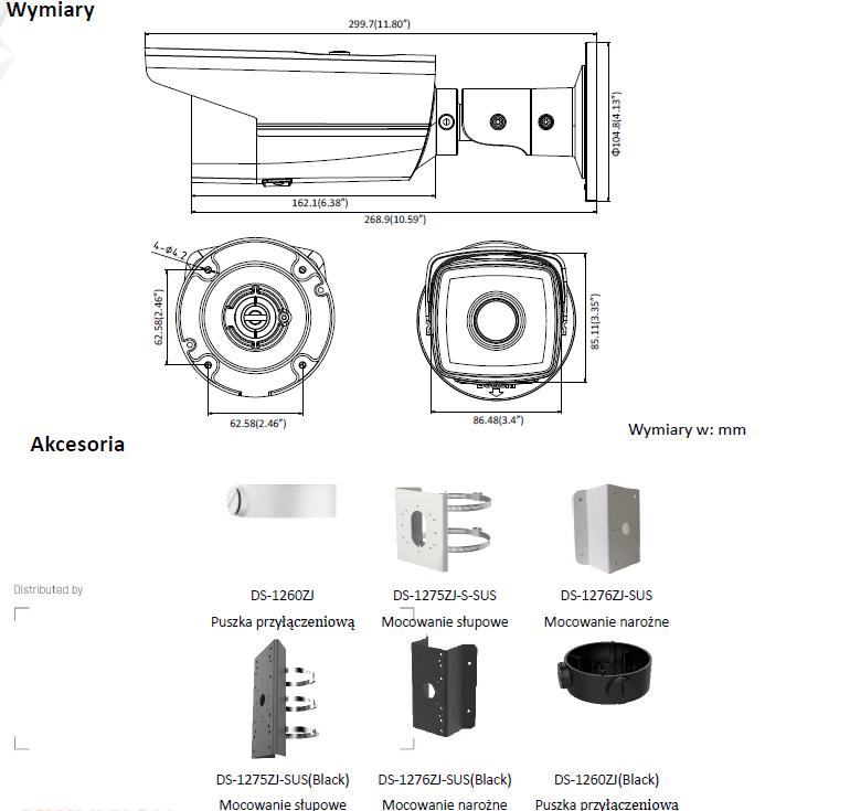 Kamera IP Hikvision DS-2CD2T85FWD-I8 (B) (4mm)