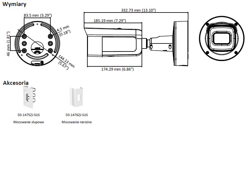 DS-2CD2643G0-IZS(2.8-12mm) Kamera IP w obudowie tulejowej - HIKVISION-L887-wymiary
