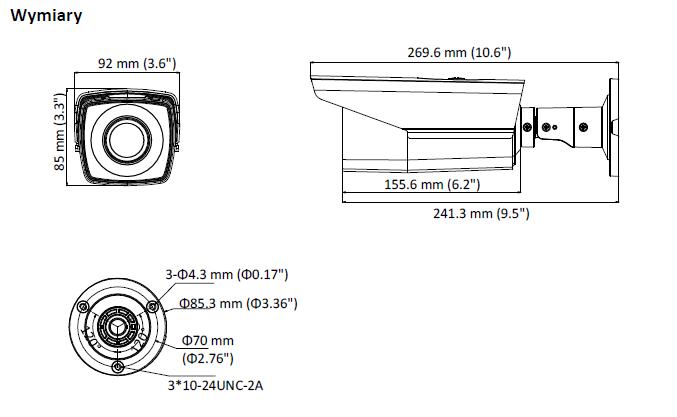 DS-2CE16D8T-AIT3ZF(2.7-13.5MM) - KAMERA HD-TVI_AHD_CVI_CVBS TULEJOWA- L603 -wymiary