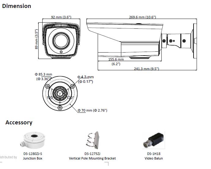 DS-2CE16D8T-IT3ZE(2.8-12MM) - KAMERA TURBO-HD TULEJOWA- L648 -wymiary