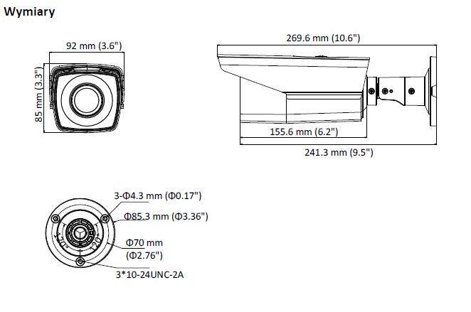 DS-2CE16D8T-IT3ZF(2.7-13.5MM) - KAMERA HD-TVI_AHD_CVI_CVBS TULEJOWA- L653 -wymiary