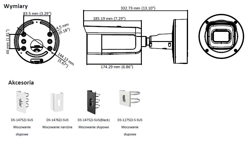 HIKVISION - DS-2CD2685FWD-IZS(2.8-12mm)(B) - KAMERA-L958-wymiary