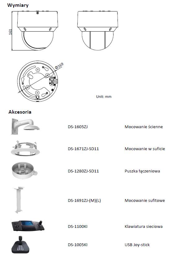 HIKVISION DS-2DE4A225IW-DE - KAMERA IP SZYBKOOBROTOWA- L734- wymiary