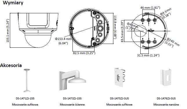 KAMERA DS-2CD2743G0-IZS(2.8-12mm) - HIKVISION - L857 - wymiary
