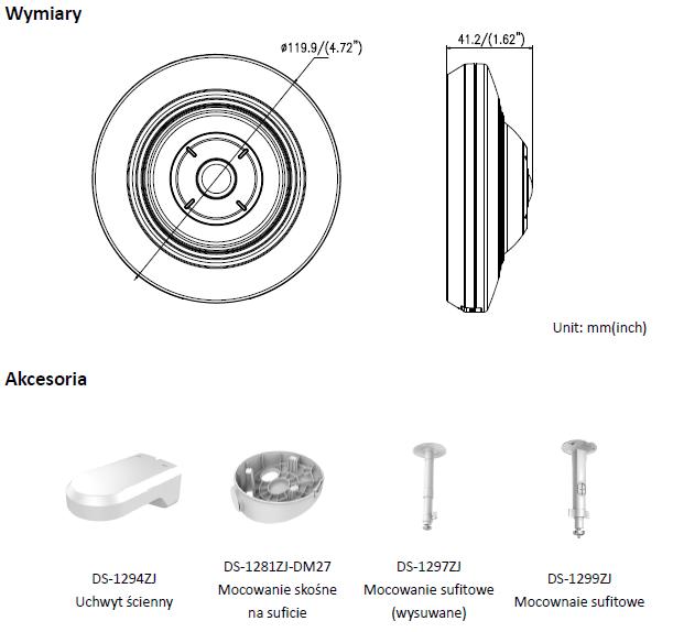 KAMERA DS-2CD2955FWD-I (1.05mm) - HIKVISION - L874 - wymiary
