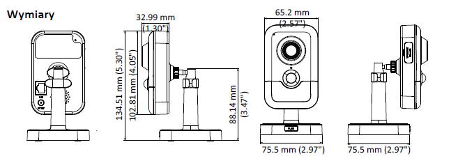 HIKVISION DS-2CD2425FWD-IW(2.8MM) - KAMERA IP CUBE, IR- L778 -wymiary