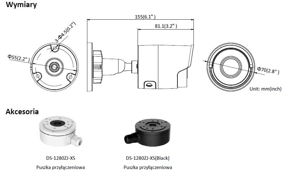 Kamera IP - DS-2CD2045FWD-I(2.8mm) - HIKVISION