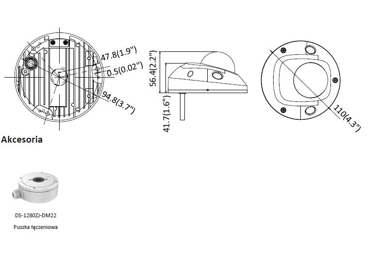 Kamera IP Hikvision w miniaturowej obudowie kopułowej DS-2CD2523G0-IWS(2.8mm) HIKVISION
