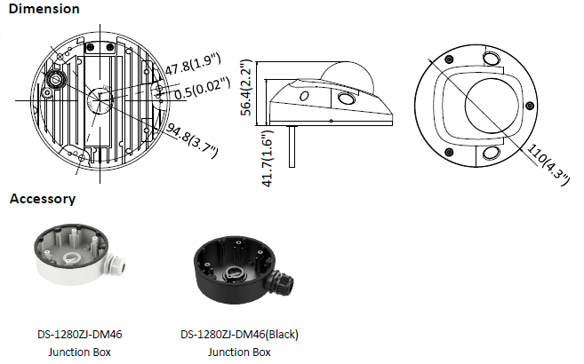 Kamera IP Hikvision w miniaturowej obudowie kopułowej DS-2CD2523G0-IS(2.8mm) HIKVISION