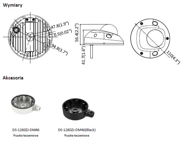 Kamera IP Hikvision w miniaturowej obudowie kopułowej DS-2CD2525FWD-I(2.8mm) HIKVISION