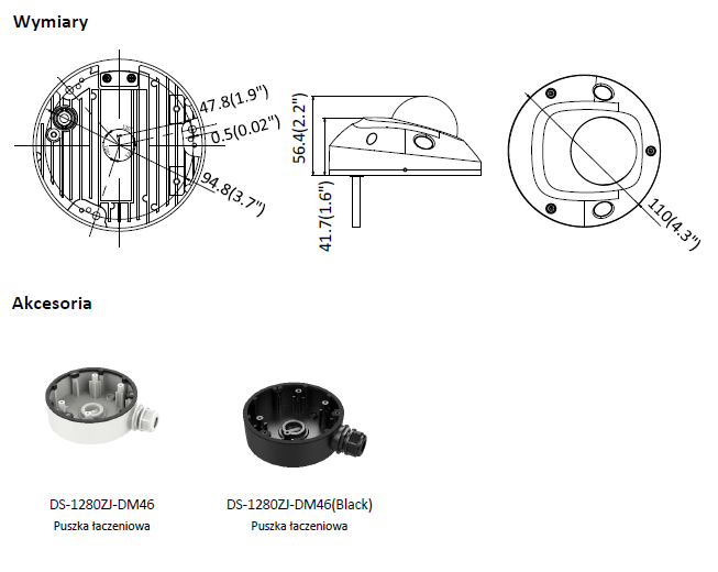 Kamera IP Hikvision w miniaturowej obudowie kopułowej DS-2CD2525FWD-IS(2.8mm) HIKVISION
