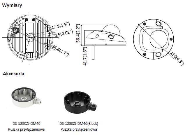 Kamera IP Hikvision w miniaturowej obudowie kopułowej DS-2CD2543G0-I(2.8mm) HIKVISION