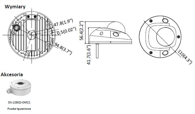DS-2CD2543G0-IS(2.8mm) HIKVISION-Kamera IP w miniaturowej obudowie kopułowej
