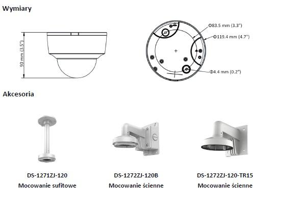 Kamera IP - DS-2CD2125G0-IMS(2.8mm) - HIKVISION