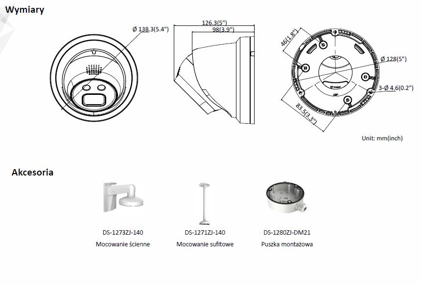 Kamera IP DS-2CD2326G1-I (2.8mm) HIKVISION