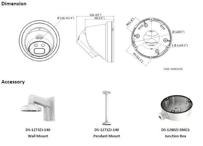 Kamera IP Hikvision typu Turret DS-2CD2346G1-I/SL (2.8mm) HIKVISION