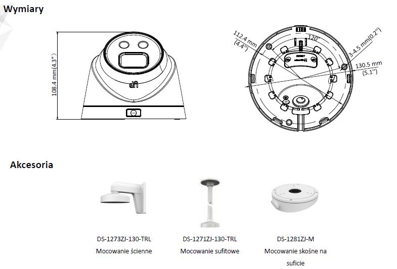 Kamera IP Hikvision typu Turret DS-2CD2346G1-I(2.8mm) HIKVISION