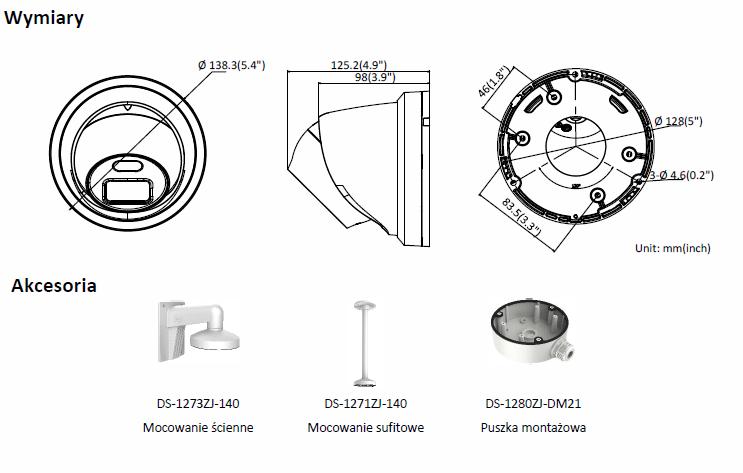 Kamera IP Hikvision typu Turret DS-2CD2347G1-L (4mm) HIKVISION