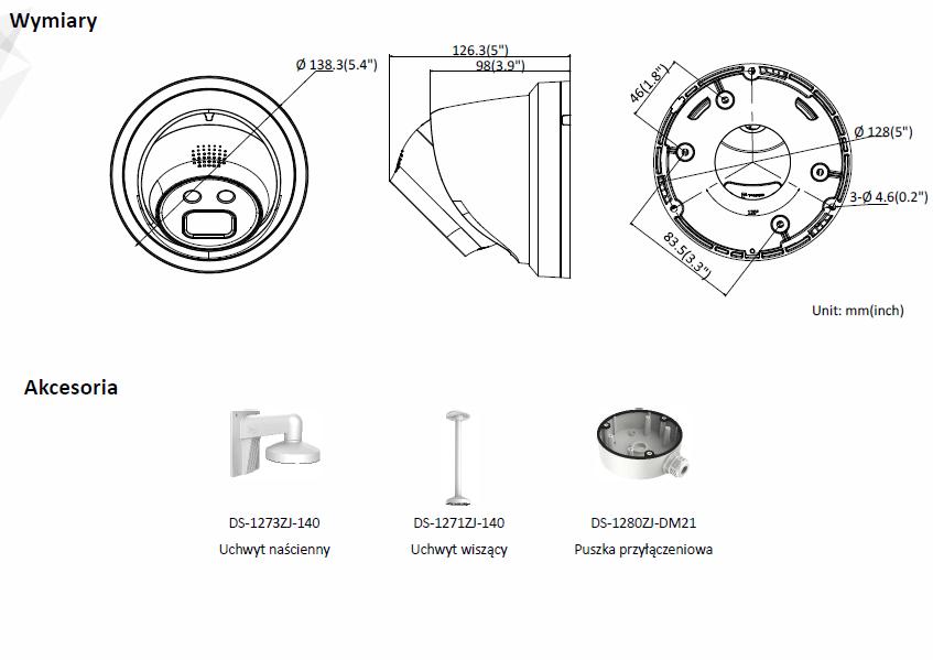 Kamera IP Hikvision w obudowie typu turrent DS-2CD2346G1-I (4mm) HIKVISION