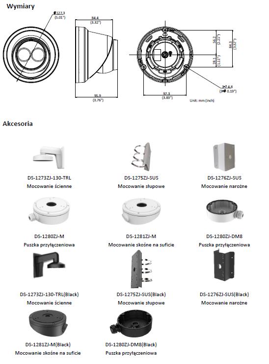 Kamera IP Hikvision w obudowie typu turret DS-2CD2383G0-I (2.8mm) HIKVISION