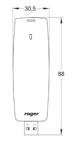 ROGER Czytnik USB EM 125 kHz RUD-2