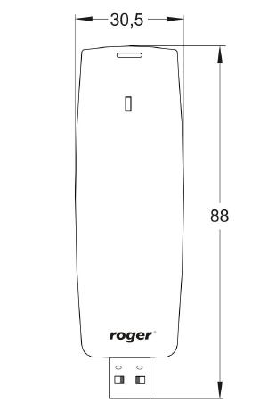 ROGER  Czytnik/programator USB MIFARE RUD-3