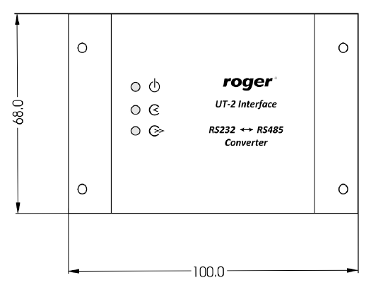 ROGER Interfejs RS232-RS485 - UT-2