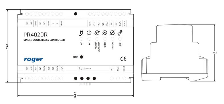 ROGER Kontroler dostępu PR402DR-12VDC