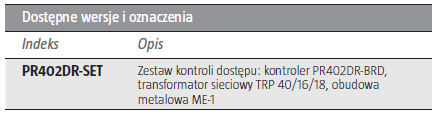 ROGER Zestaw kontroli dostępu PR402DR-SET