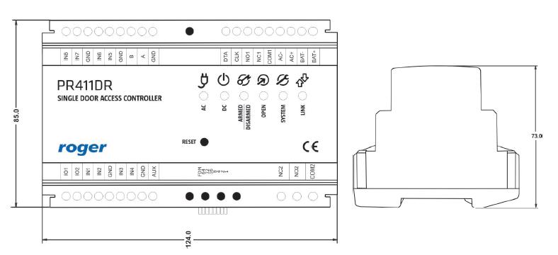 ROGER Kontroler dostępu PR411DR