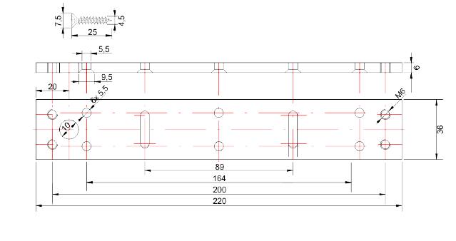 SCOT EL-1200WS - ZWORA ELEKTROMAGNETYCZNA ZEWNTRZNA 540KG - L1101 - wymiary2